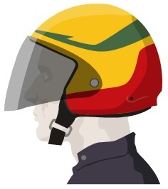 Casco Semi-Jet
